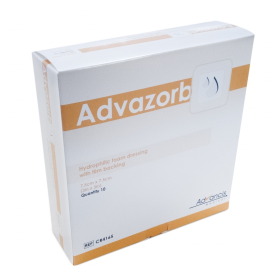 ADVAZORB 7.5x7.5CM CX10 CR4165